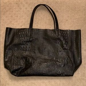 Blogger's Leather Tote